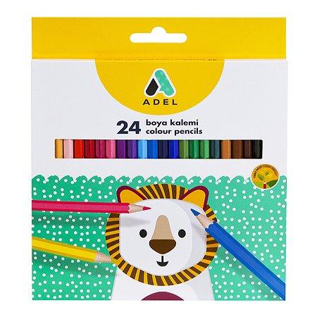 Карандаши цветные Adel шестигранные 24шт 2112365001