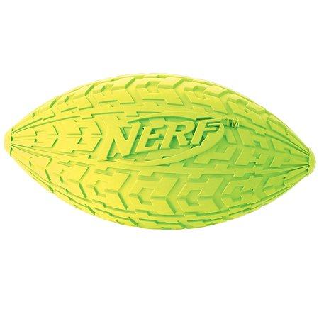 Игрушка для собак Nerf Мяч для регби пищащий маленький Желтый