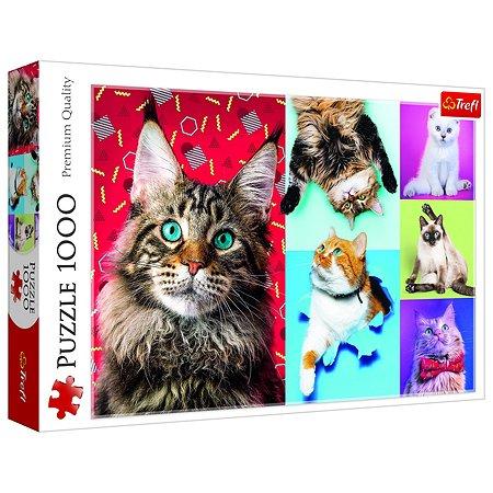Пазл Trefl Счастливые кошки 1000элементов 10591