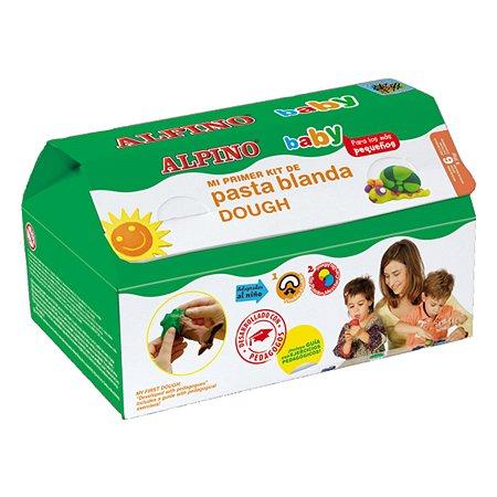 Набор пасты для лепки ALPINO Волшебное ТЕСТО baby 210 гр 6 цв.