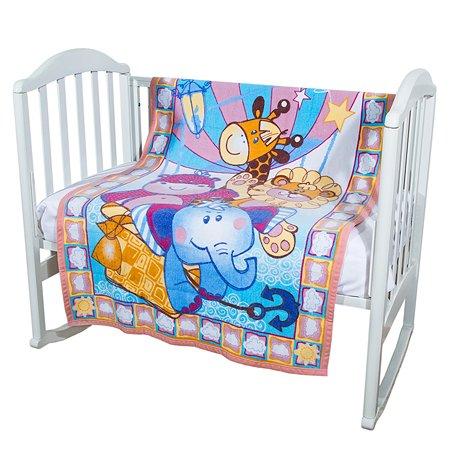 Одеяло байковое Baby Nice 100х140 розовое Воздушные шары