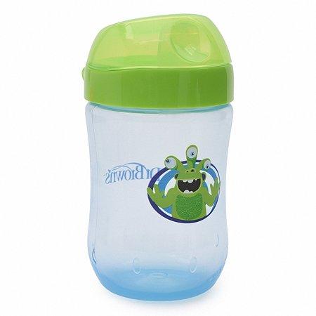 Чашка-непроливайка Dr Brown's 270 мл Голубая с салатовой крышкой