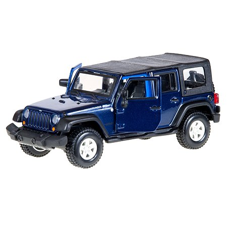 Машинка BBurago 1:32 2007 Jeep Wrangler Unlimited Rubicon 18-43000(4)