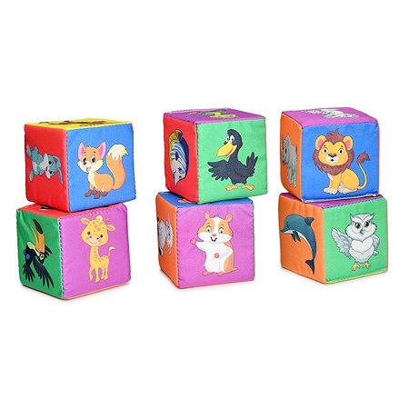 Кубики для малышей Русский стиль Веселый зоопарк 6шт Д-417-18