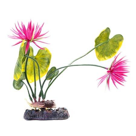 Растение PennPlax Red Water Lily с грузом 27см Красно-Зеленое P2LH