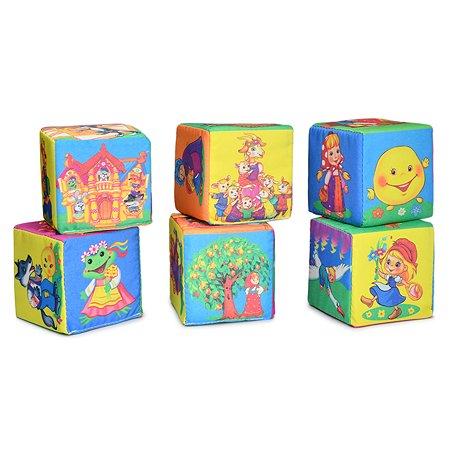 Кубики для малышей Русский стиль Веселые сказки 6шт Д-416-18