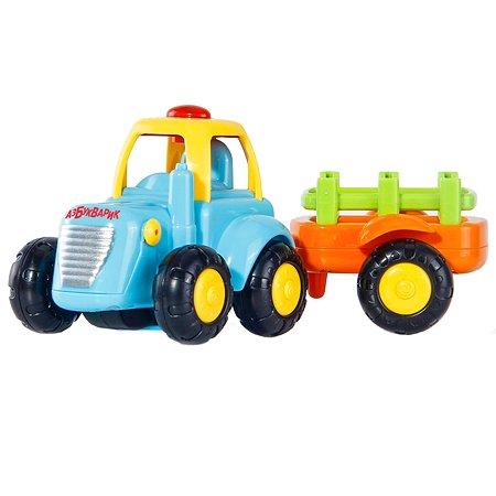 Трактор Азбукварик с прицепом музыкальный 2358-4