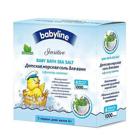Соль для ванн Babyline Sensitive морская с целебными травами