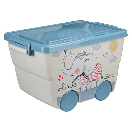 Ящик для игрушек IDEA Слоник 23л М 2550
