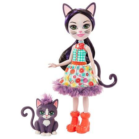 Кукла Enchantimals со зверюшкой Сиеста Кэт и Клаймбер GJX40