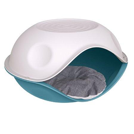 Лежанка для животных Lilli Pet Duck Pillow с подушкой М Голубой 20-6210