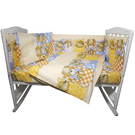 Комплект постельного белья Эдельвейс Спокойной ночи 6предметов Бежевый 10624