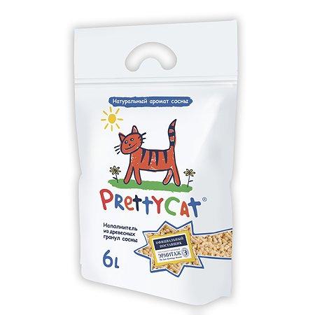 Наполнитель для кошек PrettyCat Wood Granules древесный 2кг