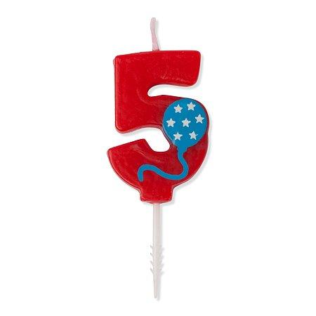 Свеча-цифра 5 Value Шарик 4,5см