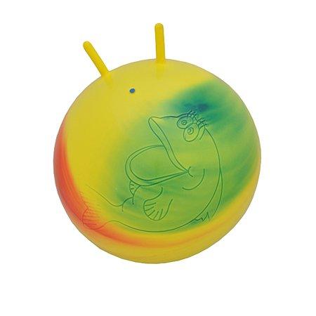 Мяч Русский стиль желтый с ручками-рожками (55 см)