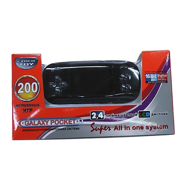 d8c1c6e520f75 Игровая приставка CyberToy GalaxyPocket 200 игр (черный) - купить в ...