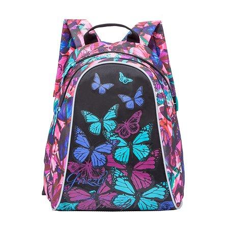 Рюкзак Grizzly для девочки Бабочки Фуксия