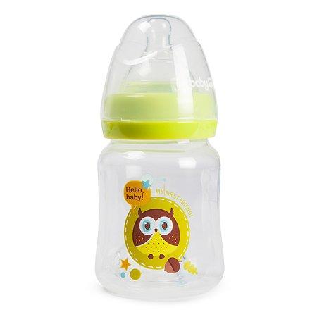 Бутылка Baby Go с широким горлом 150мл Green B2-7000