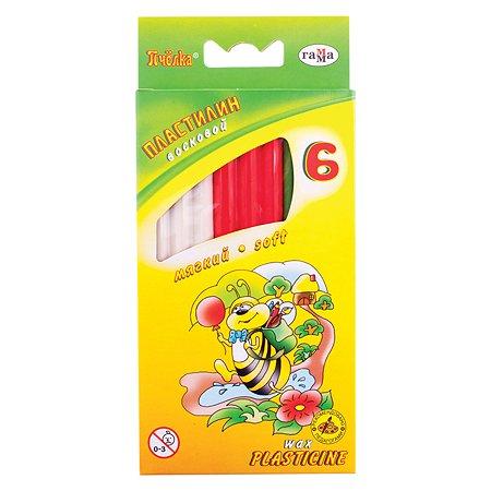 Пластилин Гамма пчелка восковой 6 ц. со стеком