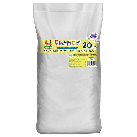 Наполнитель для кошек PrettyCat Cупер белый комкующийся с ароматом лаванды 20кг