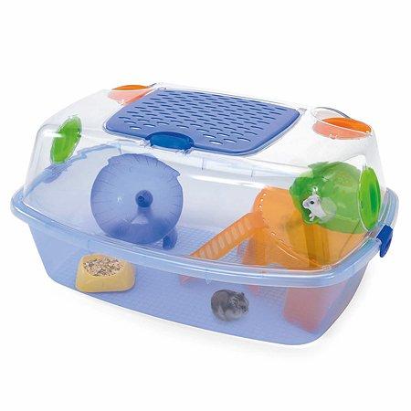 Клетка для грызунов IMAC Yo-yo plus маленькая Прозрачно-синяя