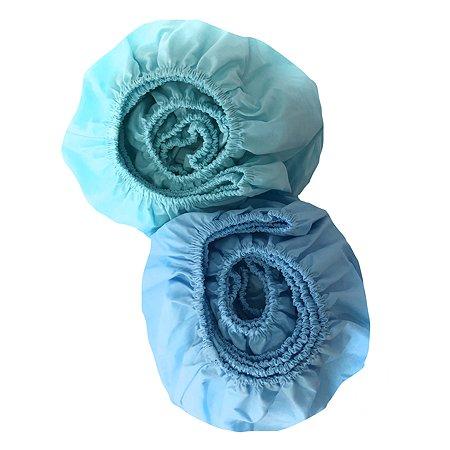 Комплект простыней Мамино Счастье на резинке 2шт Микс Голубая-Мятная с152шв