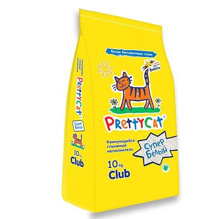 Наполнитель для кошек PrettyCat Супер белый комкующийся с ароматом ванили 10кг
