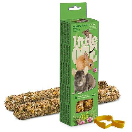 Лакомство для морских свинок кроликов шиншил Little One Палочки с луговыми травами 2шт*55г 99596