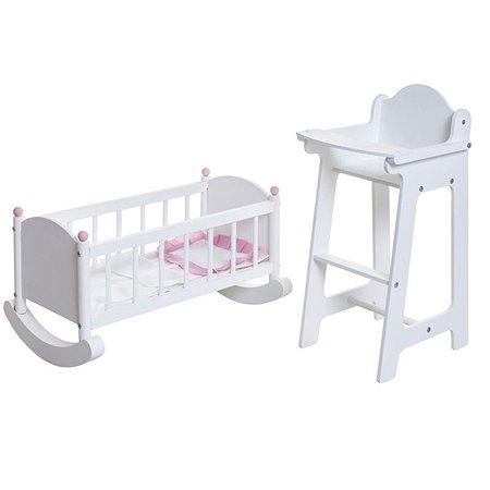 Набор мебели для кукол PAREMO Стул и люлька Белый PFD116-12
