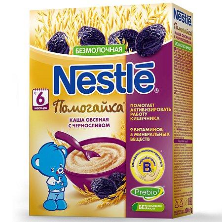 Каша Nestle Помогайкабезмолочная овес-пшеница с черносливом 250г с 6 месяцев
