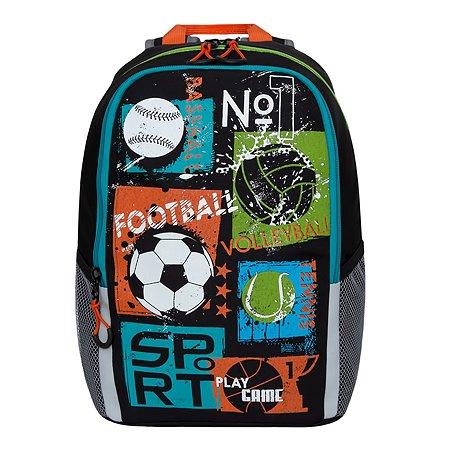 Рюкзак школьный Grizzly Футбол Черный RB-960-1/1