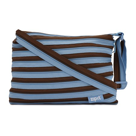 Сумка Zipit Medium Shoulder Bag Ocean Blue & Soft Brown