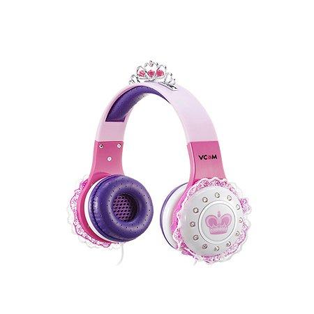 Детские наушники KAKADU Принцесса розовые