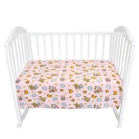 Плед флисовый Baby Nice 100х118 розовый Мишки-зайки