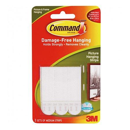 Застежки для рамок 3M Command 17201 для рамок средние (3шт)