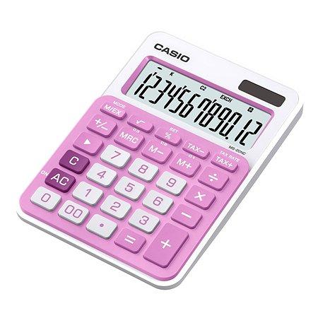 Калькулятор Casio MS-20NC-PK-S-EC настольный 12разрядный Розовый