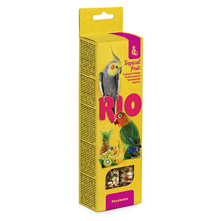 Лакомство для попугаев RIO средних Палочки с тропическими фруктами 2шт*75г 99772