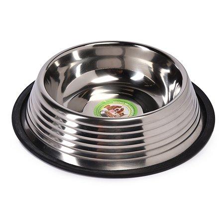 Миска для кошек-собак Ankur рельефная с резиновым основанием 0.70л AEDBNTRI-03