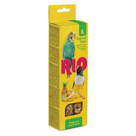 Лакомство для волнистых попугаев и экзотов RIO Палочки с тропическими фруктами 2шт*40г 99774