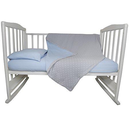 Комплект постельного белья BabyEdel 3 предмета Голубой 10057