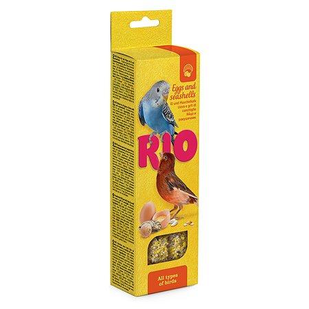 Лакомство для птиц RIO Палочки с яйцом и ракушечником 2шт*40г 99777
