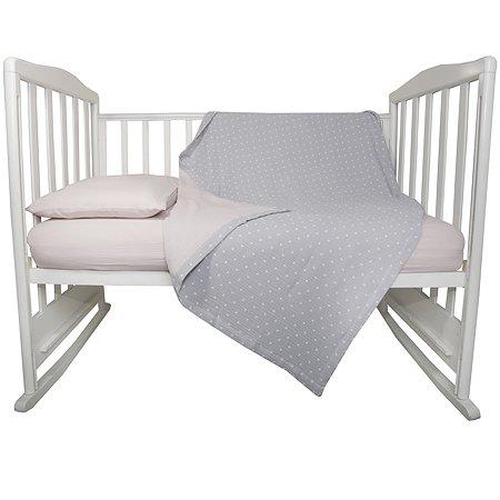 Комплект постельного белья BabyEdel 3 предмета Розовый 10057