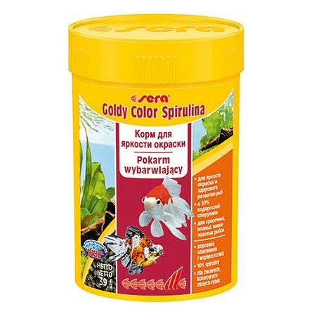 Корм для золотых рыб Sera Goldy color spirulina для улучшения окраса гранулы 39г