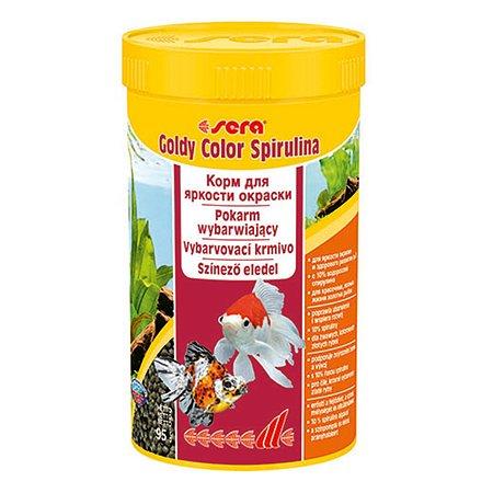 Корм для золотых рыб Sera Goldy color spirulina для улучшения окраса гранулы 95г