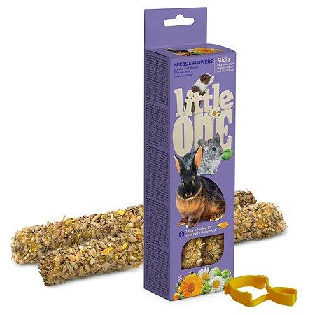 Лакомство для морских свинок кроликов шиншилл Little One Палочки с травами и цветами 2шт*55г 99780