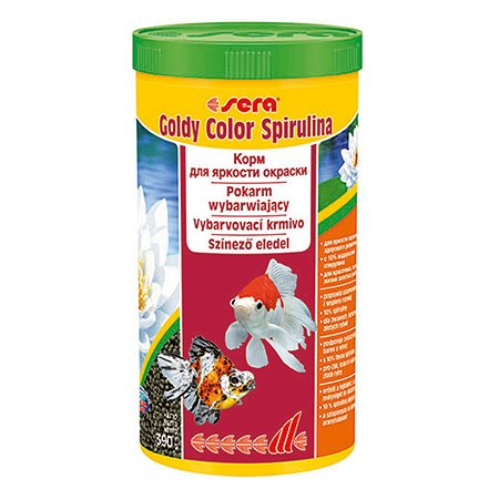 Корм для золотых рыб Sera Goldy color spirulina для улучшения окраса гранулы 390г
