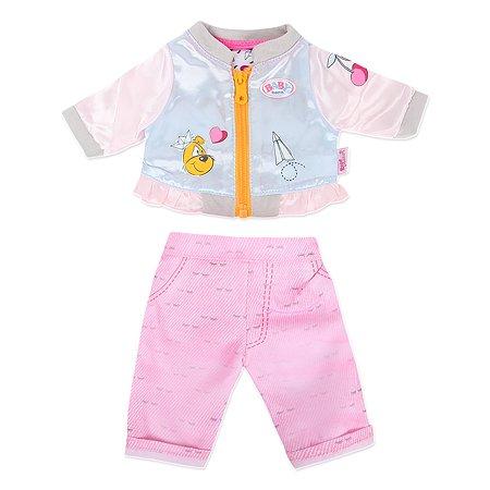 Одежда для куклы Zapf Creation Baby born Штанишки и кофточка для прогулки Розовый 824-542