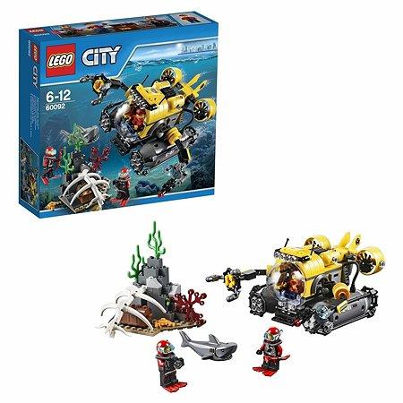 Конструктор LEGO City Deep Sea Explorers Глубоководная подводная лодка (60092)
