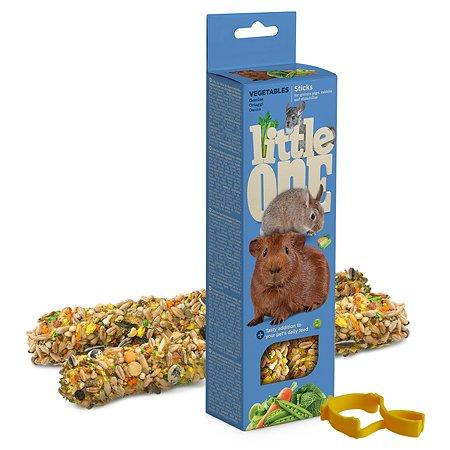 Лакомство для морских свинок кроликов шиншилл Little One Палочки с овощами 2шт*60г 99781
