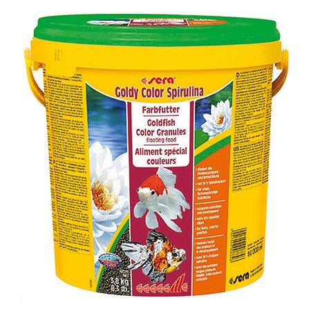 Корм для золотых рыб Sera Goldy color spirulina для улучшения окраса гранулы 3.8кг